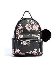 Vintage Rose Vegan Leather Backpack