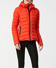 EcoPlume Bibbed Packable Puffer Coat