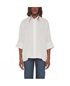 Women's Button Front Collared Shirt