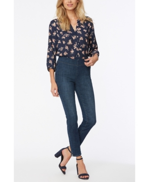 Nydj PETITE SKINNY ANKLE PULL ON JEANS WITH SIDE SLITS