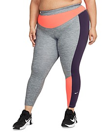 One Plus Size Women's Colorblocked 7/8 Leggings