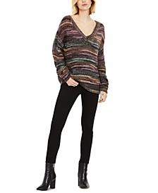 V-Neck Boyfriend Maternity Sweater