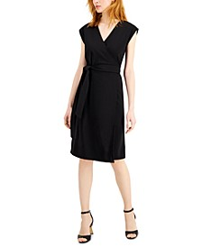 Cap-Sleeve Wrap Dress, Created for Macy's