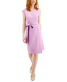 Cap-Sleeve Wrap Dress, Created for Macy's