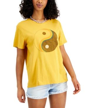 Women's Yin Yang-Graphic Cotton T-Shirt