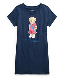 Little Girls Polo Bear Cotton Jersey T-shirt Dress