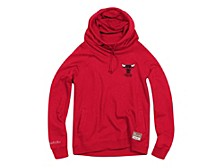 Women's Chicago Bulls Funnel Neck Fleece Hoodie