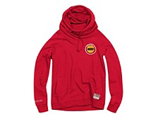Women's Houston Rockets Funnel Neck Fleece Hoodie