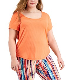 Trendy Plus Size Strappy-Back T-Shirt
