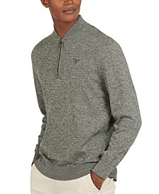 Men's Sporty Quarter-Zip Sweater