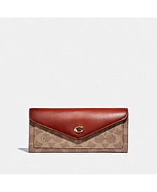 Wyn Soft Leather Wallet In Colorblock Signature Canvas