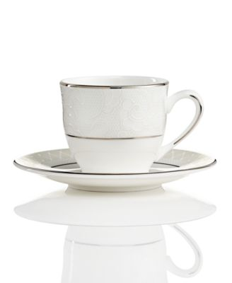 Venetian Lace Espresso Cup and Saucer Set