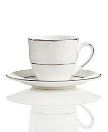 Lenox Venetian Lace Espresso Cup and Saucer Set