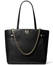 Carmen Large Leather Belted Tote