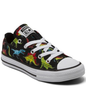 Converse LITTLE BOYS 8-BIT DINOVERSE CHUCK TAYLOR ALL STAR CASUAL SNEAKERS FROM FINISH LINE
