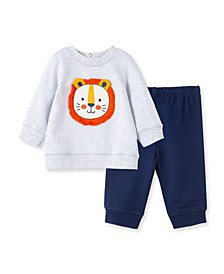 Baby Boys Lion Sweatshirt Set