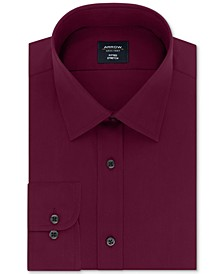 Men's Fitted Non-Iron Performance Stretch Solid Dress Shirt