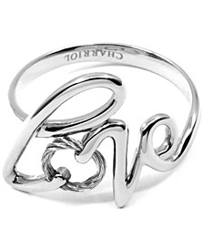 Love Cable Statement Ring in Sterling Silver & Stainless Steel