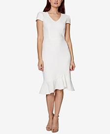 Petite Cap-Sleeve Bodycon Dress