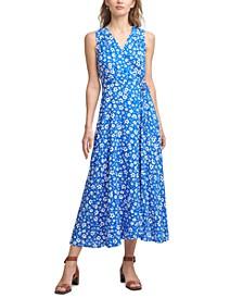 Ditsy Floral-Print Maxi Dress