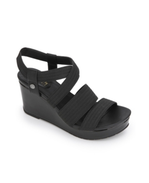 Kenneth Cole Reaction Women's Card Elastic Wedges Women's Shoes In Black