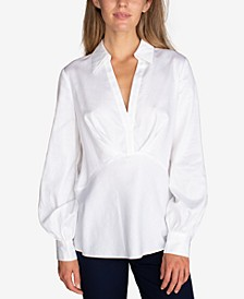 Cotton Surplice Top