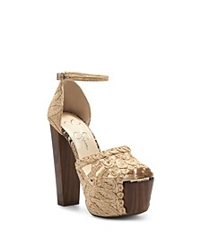 Women's Dessie Block Heel Platform Dress Sandals