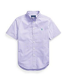 Big Boys Gingham Cotton Poplin Shirt