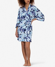 Theoni Floral-Print Wrap Robe