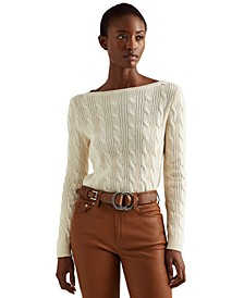 Petite Classic Cable-Knit Sweater