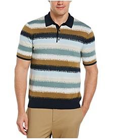 Men's Striped Sweater Short Sleeve Polo Shirt