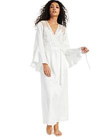 INC Long Satin Wrap Robe, Created for Macy's