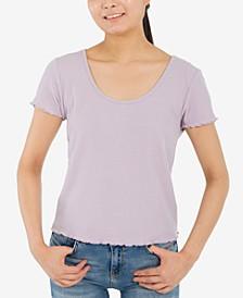Juniors' Crisscross-Back T-Shirt