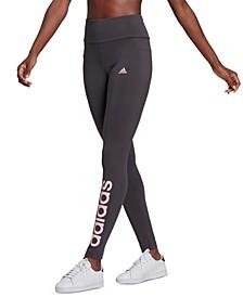 Women's Linear-Logo Full Length Leggings
