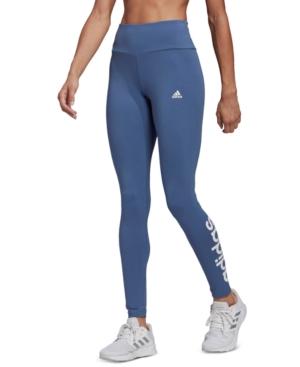 Adidas Originals Leggings ADIDAS WOMEN'S ESSENTIALS HIGH-WAISTED LOGO LEGGINGS