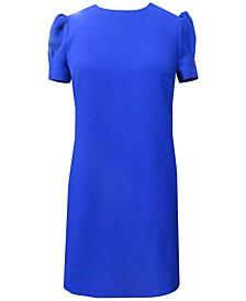 Puff-Sleeve Shift Dress
