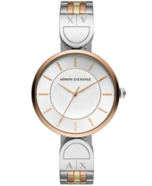 Ax Women's Tri -Tone Stainless Steel Bracelet Watch 32mm