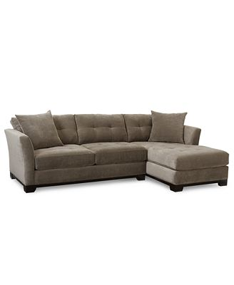 Elliot Fabric Microfiber 2 Pc Chaise Sectional Sofa Furniture Macy s