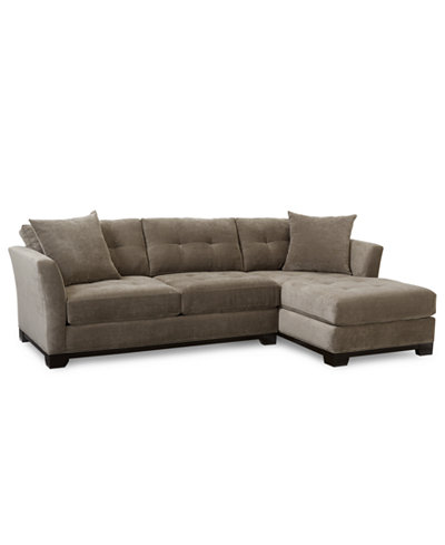 elliot fabric microfiber 2 pc chaise sectional sofa
