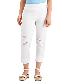 INC Pull-On Straight-Leg Jeans, Created for Macy's