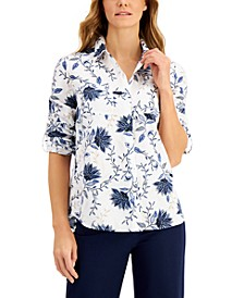 Floral-Print Shirt, Created for Macy's