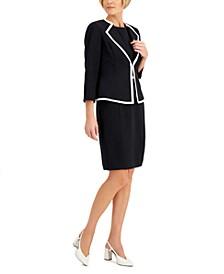 Contrast-Trim Dress Suit