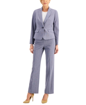 Shadow-Stripe Pantsuit