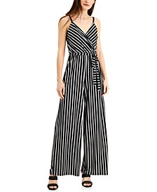 Petite Striped Jumpsuit, Created for Macy's