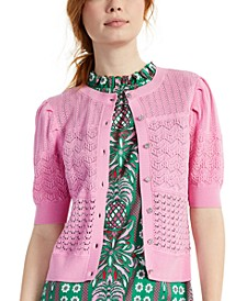 Pointelle Jewel-Button Cardigan, Created for Macy's