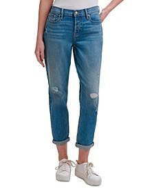 Mid-Rise Slim-Fit Boyfriend Jeans