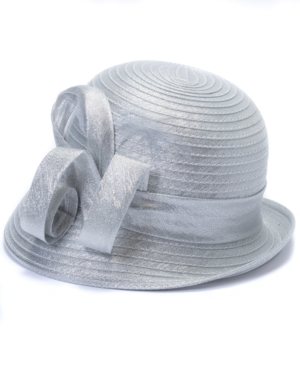 Metallic Organza Cloche Hat