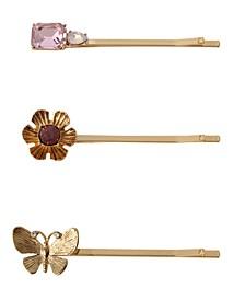 Butterfly Bobby Pin, 3 Piece Set
