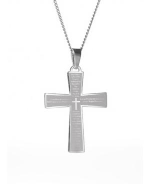 Men's Lords Prayer Cross Pendant Necklace