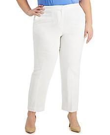 Plus Size Textured Pants
